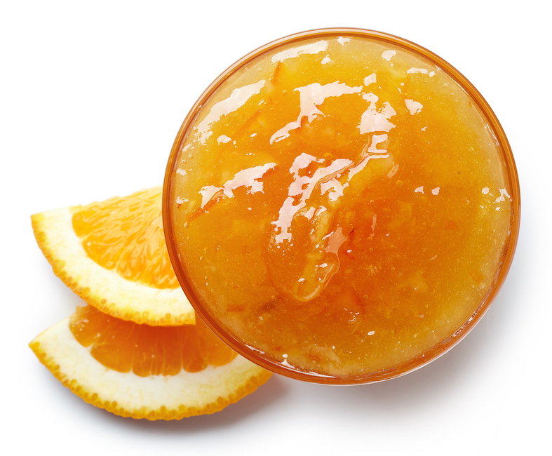 Bowl of orange jam