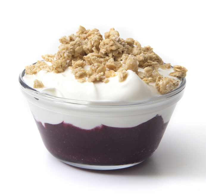 Yogurt with Berry Compot and Granola