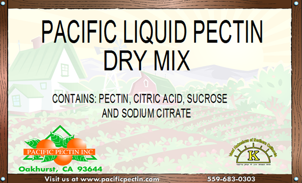 PACIFIC LIQUID PECTIN DRY MIX:  Comparable to store bought liquid pectin after reconstituted.