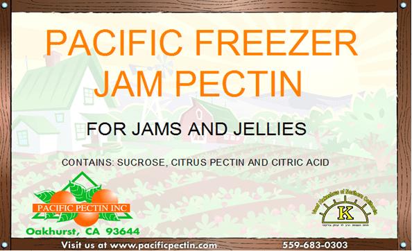 PACIFIC FREEZER JAM PECTIN: Used for standard sugar freezer jams and jellies