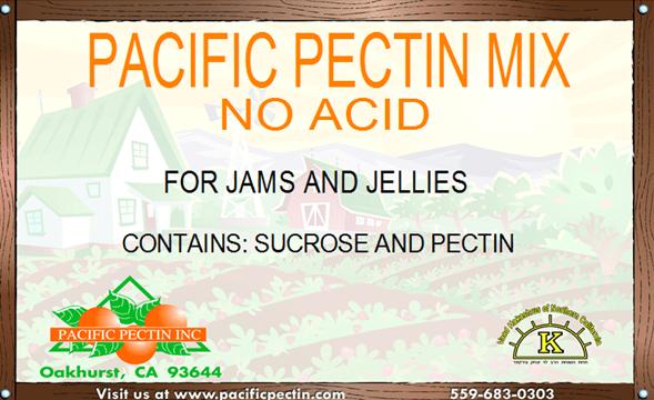 PACIFIC PECTIN MIX-NO ACID:             A rapid set pectin for jams and jellies using high acid fruits.