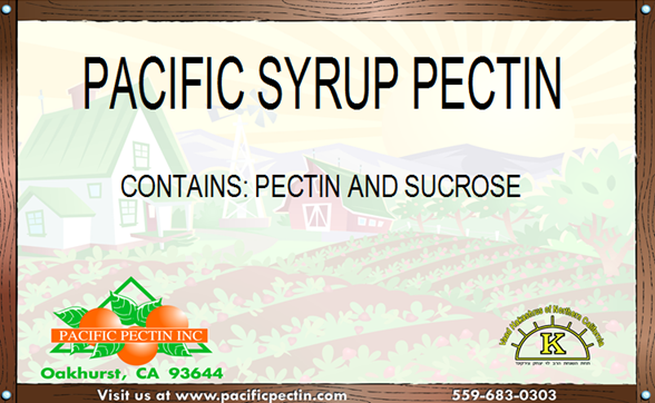 PACIFIC SYRUP PECTIN: Used for fruit base syrups.